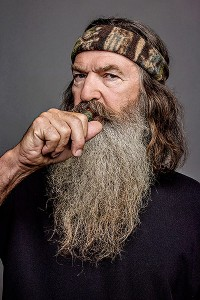 duck dynasty family patriarch phil robertson with alex crain of